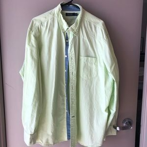 Men's Lime Nautica Button Down Shirt - XXL